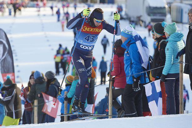 Maicol Rastelli jättää Ski Tourin kesken.