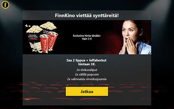 Huijaussivustot muistuttavat yhä enemmän Finnkinon oikeaa sivustoa.