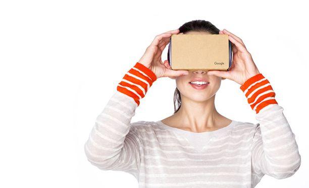 Googlen Cardboard on halpa, pahvista tehtävä virtuaalilasi, joka muuttaa kännykän edullisesti VR-laitteeksi. Android VR:n huhutaan toimivan ilman kännykkää tai tietokonetta.