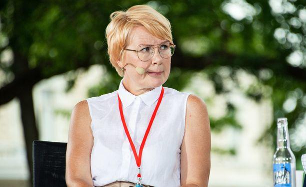 Päivi Anttikoski kuvattuna viime viikolla Porin Suomi-areenassa.