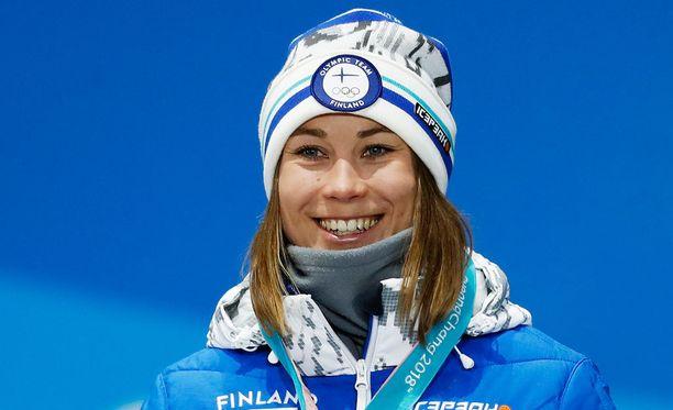 Enni Rukajärvi voitti Pyeongchangissa uransa toisen olympiamitalin.