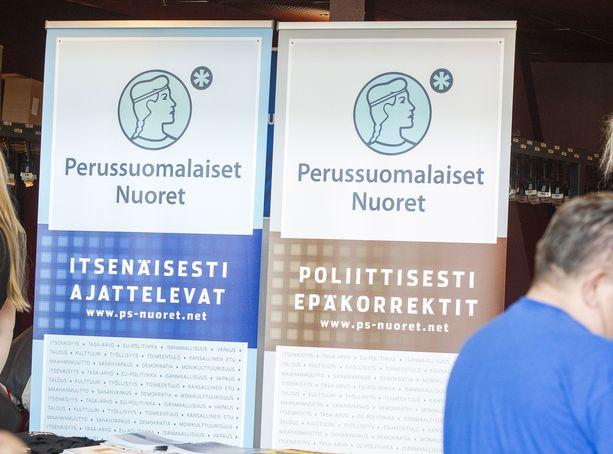 Perussuomalaiset nuoret kokoontuvat ylimääräiseen kokoukseen kohun jälkeen. Kuva PS:n puoluekokouksesta Turusta vuodelta 2015.
