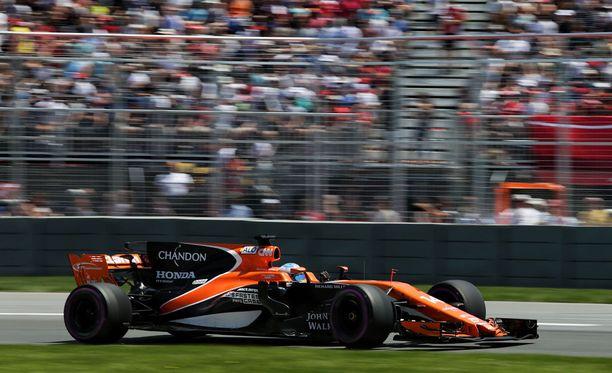Fernando Alonso starttaa Montrealissa 12. lähtöruudusta.