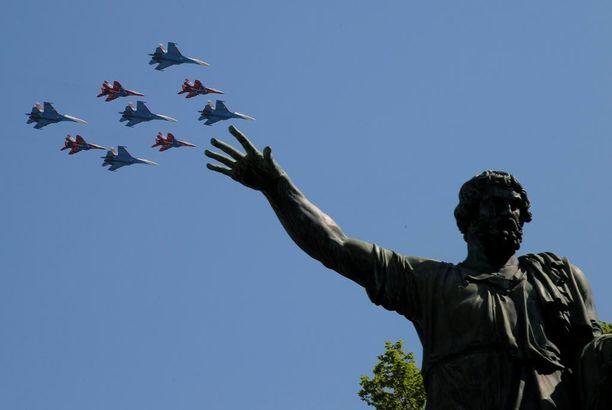 Reutersin mukaan mukana oli myös koneita, joita on käytetty sotatoimissa Syyriassa.