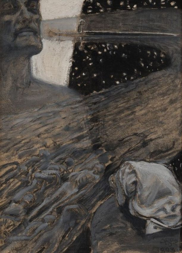 """Akseli Gallen-Kallelan symbolistinen mestariteos """"Kuolleitten virta"""" oli ensimmäisen kerran myynnissä."""