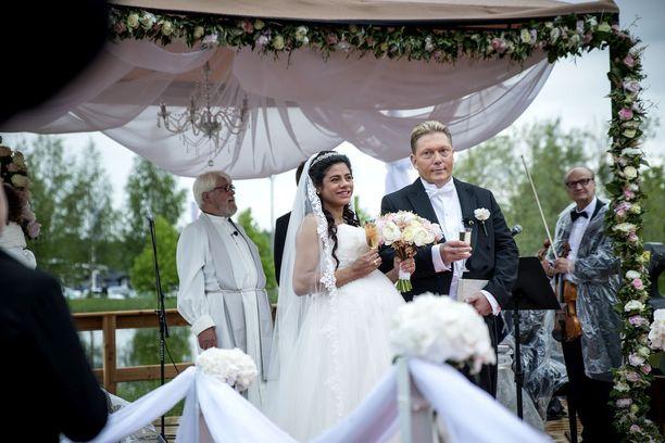 Vesa Keskinen ja Jane avioituivat vuoden 2015 kesällä.