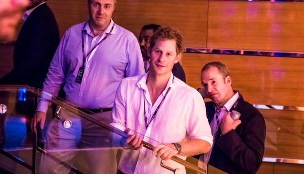 Prinssi Harry vieraili Amber Loungen juhlissa Abu Dhabissa vuonna 2014.
