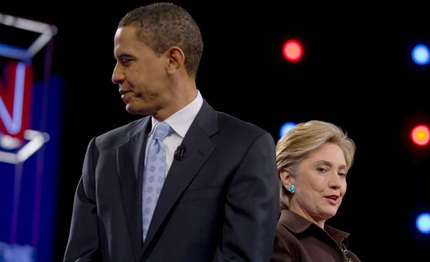 Barack Obama ja Hillary Clinton kuvattuna vuonna 2008.