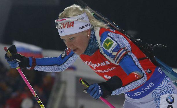 Kaisa Mäkäräinen voitti maailmancupin kokonaiskilpailun.