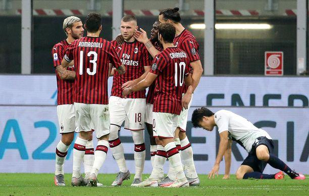 AC Milan on tappioitta koronatauon jälkeisissä otteluissa.