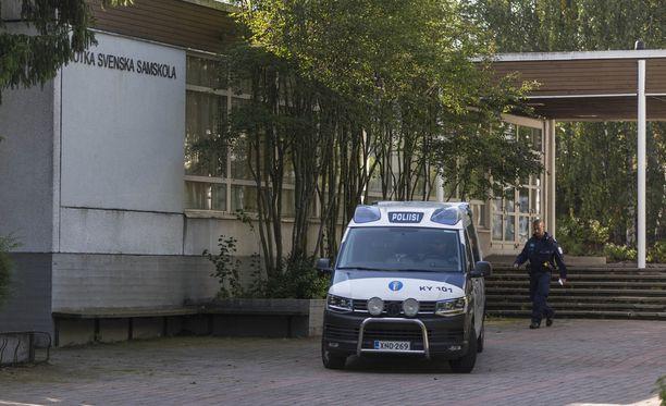Kotkan Svenska Samskolan evakuoitiin uhkauksen takia maanantaina.