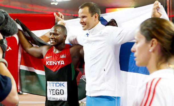 Vuoden 2015 MM-kisoissa Yego otti kultaa ja Tero Pitkämäki pronssia.