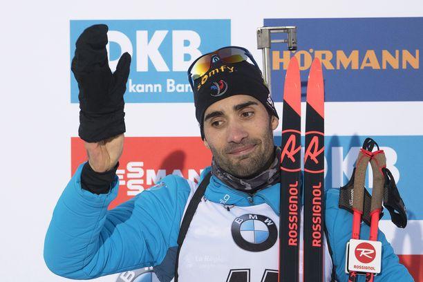 Martin Fourcade voitti lauantaina Hochfilzenissä ampumahiihdon maailmancupin takaa-ajon.