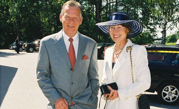 Anders Wiklöf ja vaimo Rita kuvattuna vuonna 2013.