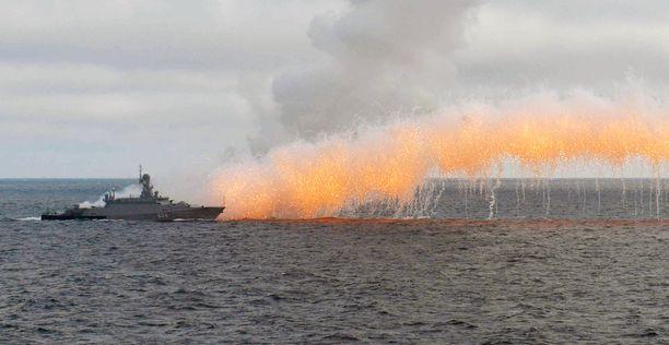Venäjän laivasto harjoitteli Kinzhal-ohjusten laukaisua Mustallamerellä viime vuoden tammikuussa.
