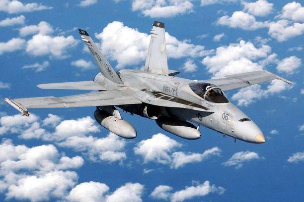 F/A-18 Hornet -hävittäjä on käytössä useiden maiden ilmavoimissa.