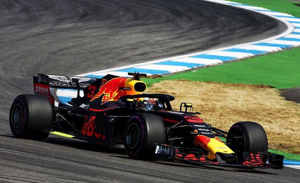 Daniel Ricciardo piti parasta vauhtia Saksan GP:n ensimmäisissä harjoituksissa.