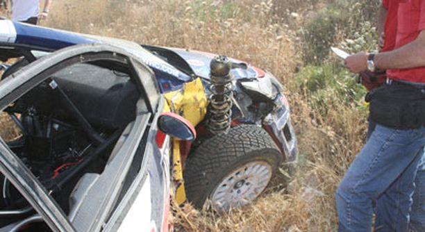Sebastien Loebin autoa ei todennäköisesti saada enää kilpailukuntoon.