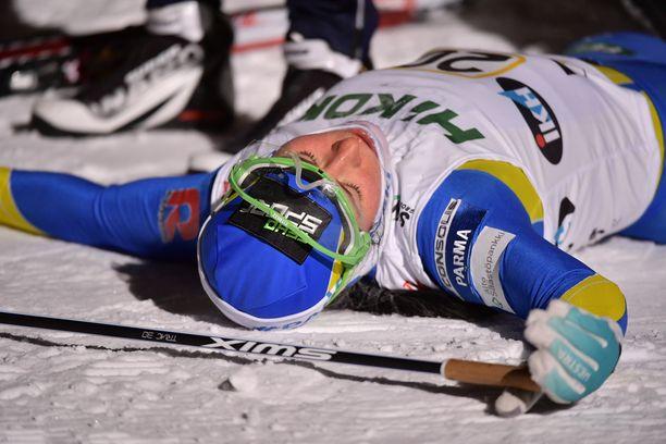 Krista Pärmäkoski oli poikki myös Vantaan Suomen cupin viestin jälkeen.