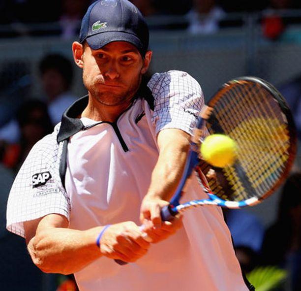Andy Roddickin peli on kulkenut Ranskan avoimissa.
