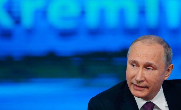 Putinin puhetta saapui seuraamaan yli tuhat toimittajaa.