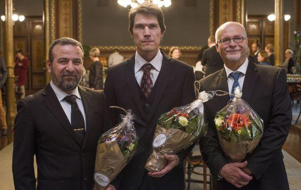 Vuoden isinä palkittiin tänä vuonna Kais Zaya, Risto Tuominen ja Topi Linjama.