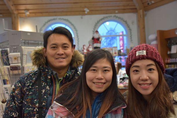 Nickie Ng, Carrie Cheung ja Yuki Lau eivät matkustaneet Hong Kongista turhaan. Himoitut revontulet näyttäytyivät kolmesti.