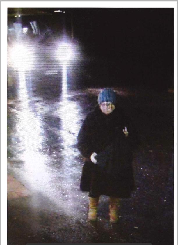 Tuula Vivolin valvontakamerakuvassa katoamishetkellä Kuusijärvellä 28.lokakuuta.