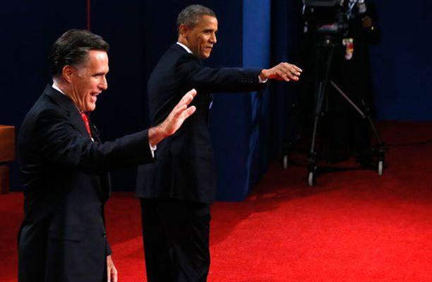Mitt Romneyn ja Barack Obaman ensimmäinen vaaliväittely sujui Romneyltä paremmin.