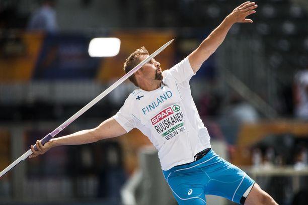 Antti Ruuskanen edusti Suomen värejä Berliinin keihäsfinaalissa.