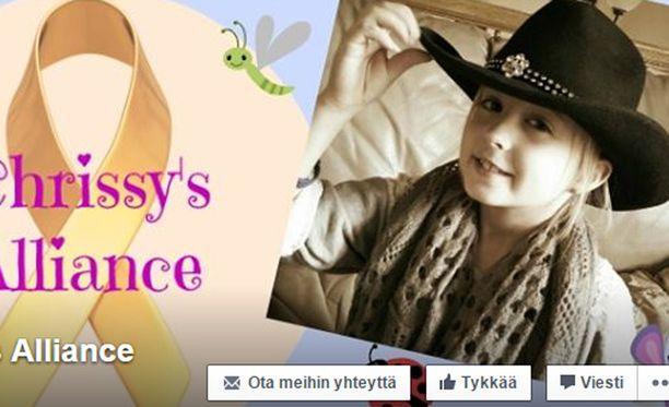 Chrissyn perhe kerää tytön syöpähoitoihin rahaa Facebook-kampanjan avulla.