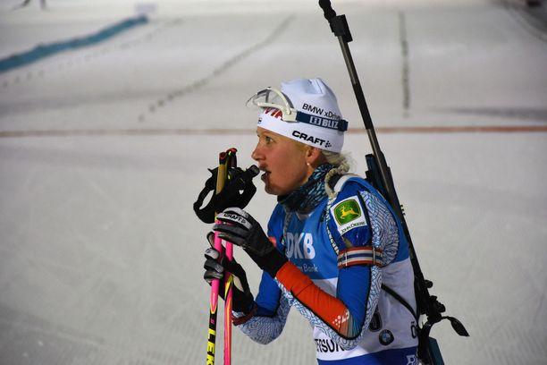 Kaisa Mäkäräinen on saanut ladulle kovan haastajan Denise Herrmannista.