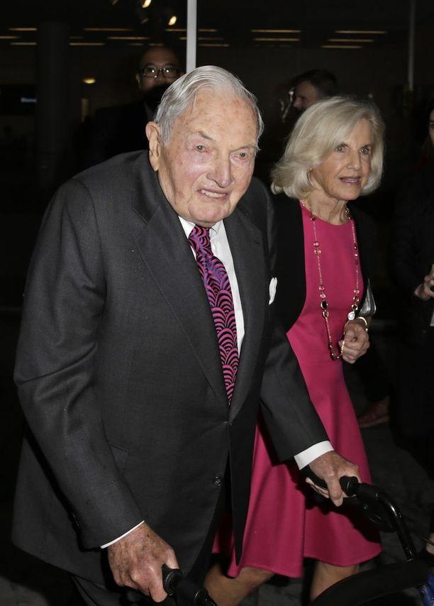 David Rockefeller kuvattuna New Yorkissa vuonna 2015.