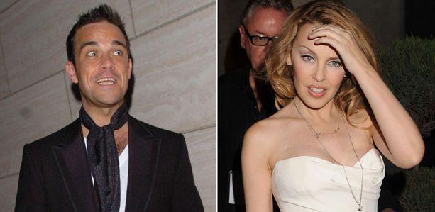 Robbie Williams ei tehnyt vaikutusta Kylie Minogueen.