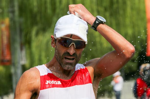 Jesús Ángel García, 51, osallistuu olympiakisoihin.
