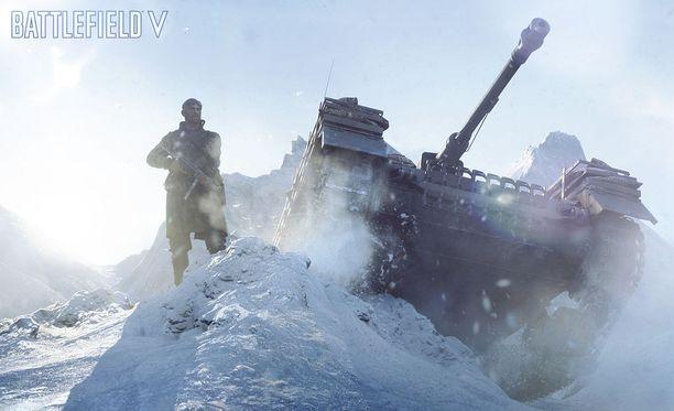 Battlefield 5 -pelissä taistellaan mm. Norjassa.