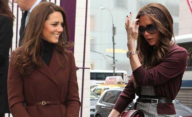Kate Middletonin ja Victoria Beckhamin tyylit ovat hyvin samanlaisia.