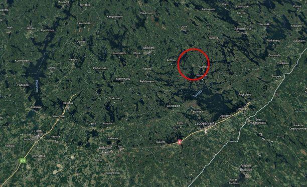 Onnettomuuspaikka sijaitsee kantatie 62:lla, Lietvedentien ja Reimaniementien risteyksen lähistöllä.