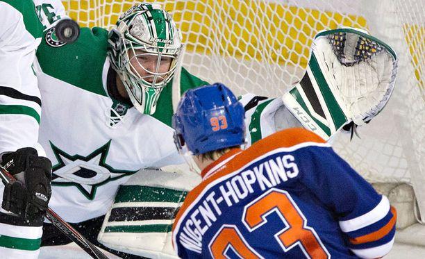 Kari Lehtonen torjui Edmontonia vastaan 24 kiekkoa.