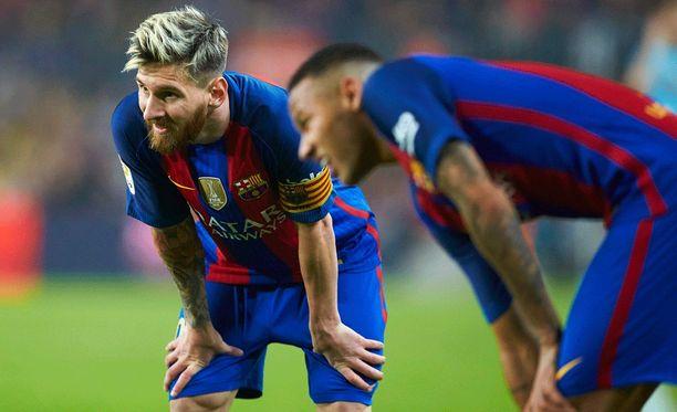 Leo Messi ja Neymar olivat yllättävän tehottomia heikkoa Granadaa vastaan.