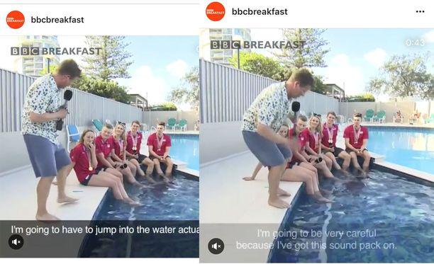 BBC Breakfast on ottanut somessa kaiken irti toimittaja Mike Bushnellin pulahduksesta.