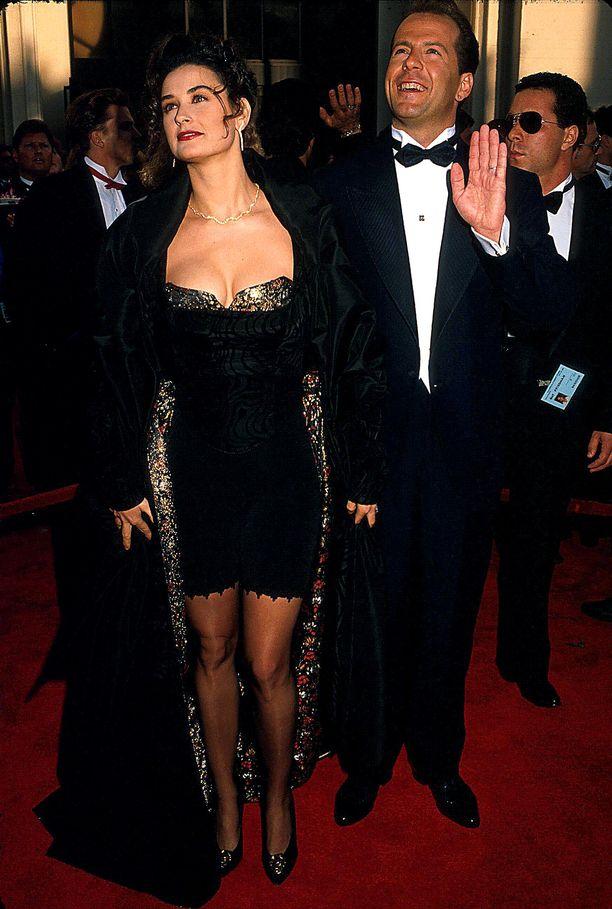 Demi Moore ja Bruce Willis vuonna 1989.