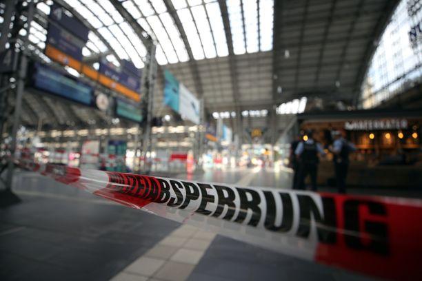 Poliisi eristi alueen tapauksen jälkeen.