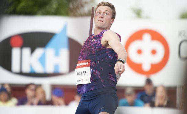 Thomas Röhler on voittamaton kaudella 2017 isoissa kisoissa.