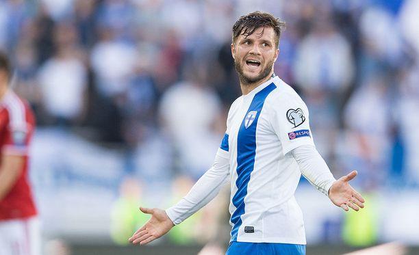 Perparim Hetemaj'ta ei enää nähdä Suomen jalkapallomaajoukkueessa.