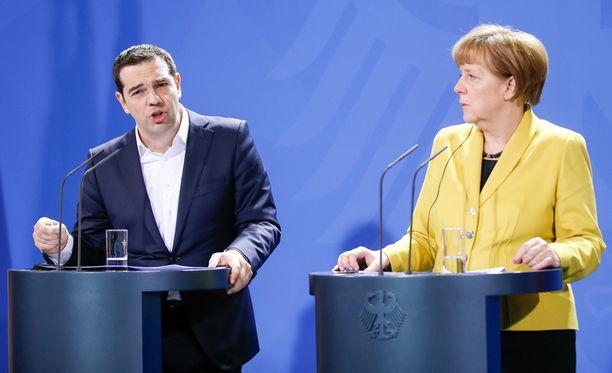 Kreikan pääministeri Alexis Tsipras ja Saksan liittokansleri Angela Merkel neuvottelivat Kreikan lainaohjelman velvoitteista maaliskuun lopussa.