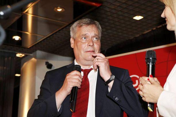 Antti Rinne koki ensimmäisen vaalitappionsa puheenjohtajana.