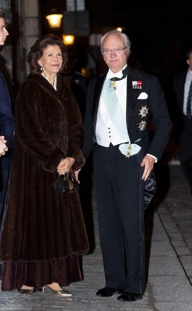 Silvia ja Kaarle Kustaa kuvattiin joulukuussa Nobel-gaalassa.