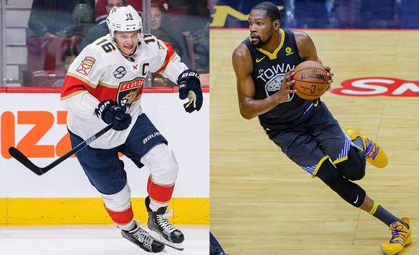 Aleksander Barkovin rasvaprosentti on laskenut merkittävästi parin viime vuoden aikana. Kevin Durant on yksi alhaisella rasvaprosentilla varustetuista NBA:n huippupelaajista.