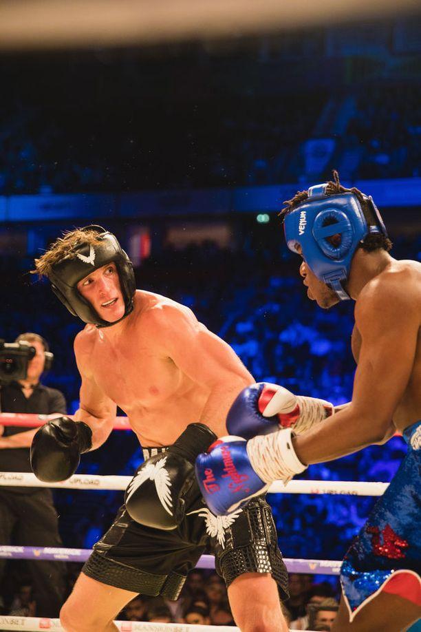Logan Paul ja KSI nähtiin elokuussa nyrkkeilykehässä.